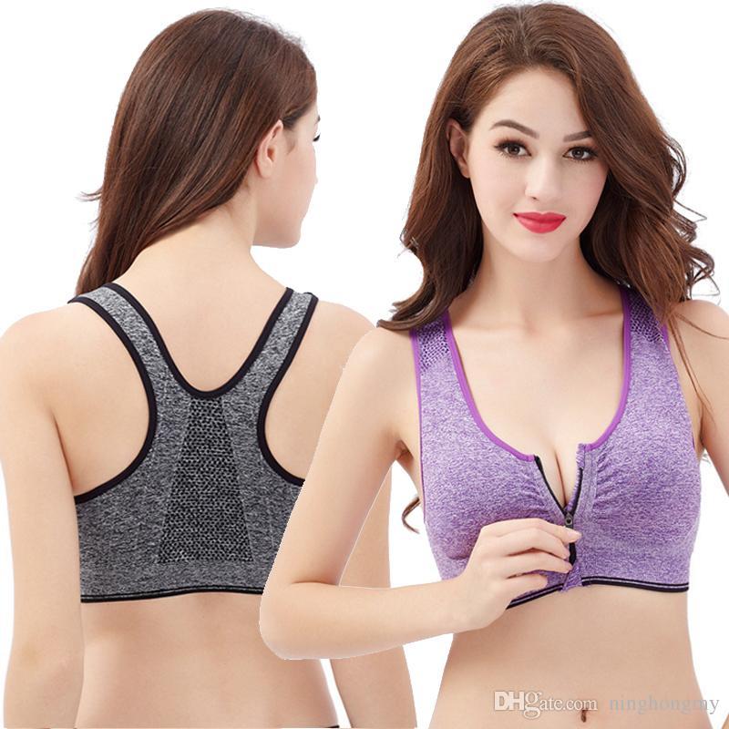 45919b8ef50ac7 Qualität 3 Größe 5 Farben Nahtlose BH Mode sexy BH Yoga BH für Frauen  Reißverschluss Shaper Korsett Unterwäsche Fabrik Direktverkauf