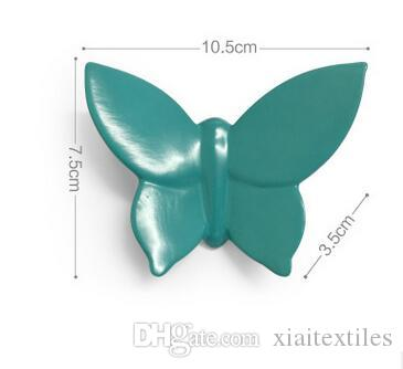 4colour Creative Wall Jewelry Home Exhibition Hotel KTV Villa Decorative Wall Pendant Butterfly Resin Craft decoration hook B700