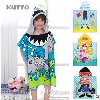 Creative Beach Towels Kids Robes Bathrobe Funny Cartoon Towels Cape
