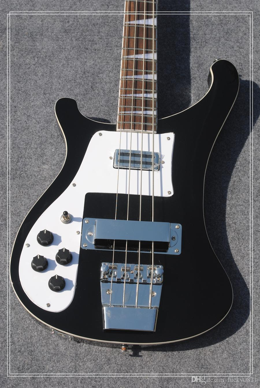 Left Hand Bass guitar 4003 Rick Electric Bass Guitar IN Black 4 Strings Bass guitar From China Best Selling