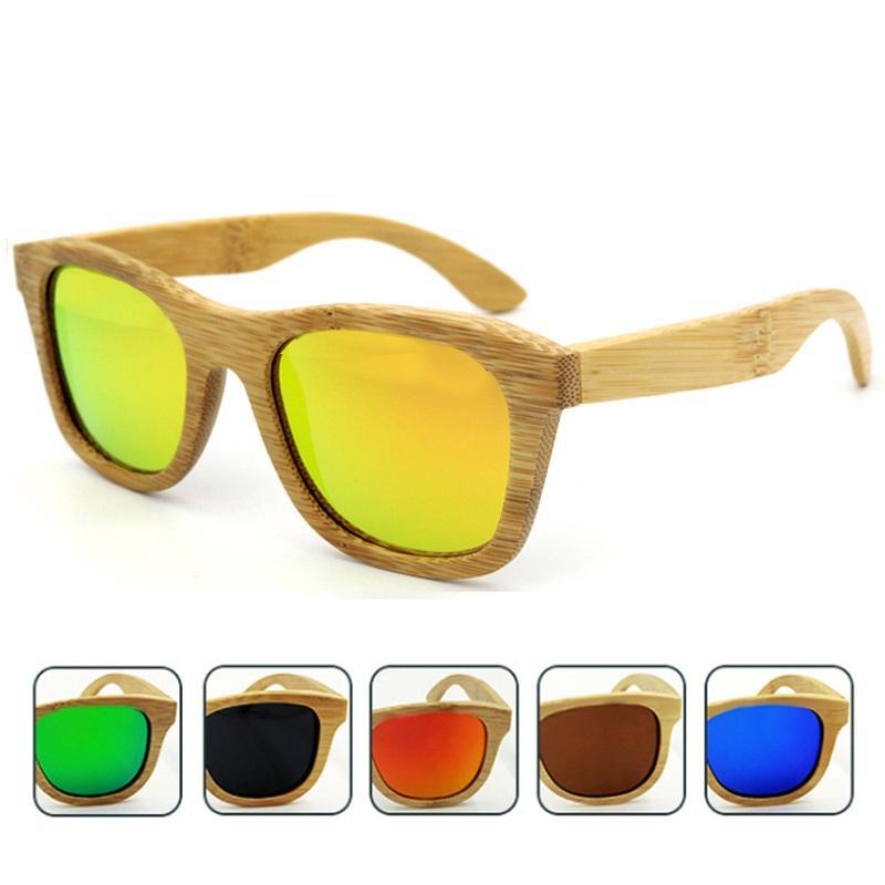 14e04bae1b Bamboo Frame Polarized Sunglasses UV Protection Shades Sun Glasses For Women  And Men Handmade Bamboo Wood Riding Driving Sunglasses Retro Sunglasses For  Men ...