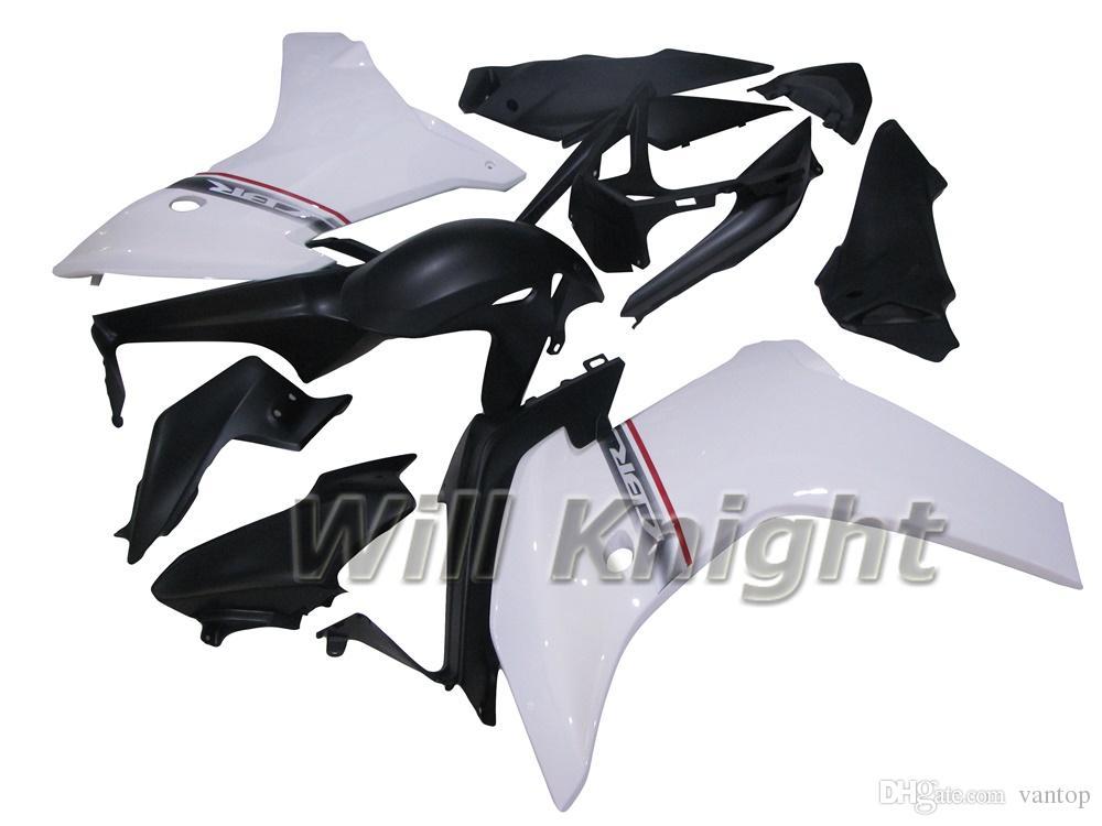 Kit de Carenagem de Moldagem por Injeção para Motocicleta Quadro Conjunto de Carenagem para CBR600F 2011 2012 2013 Carroceria Kits de Corpo Branco Preto Capa