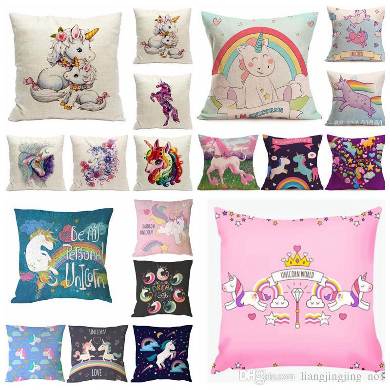 Pillow Case Party Design: 54 Design Animal Unicorn Print Custom Cushion Cover Party Supplies    ,