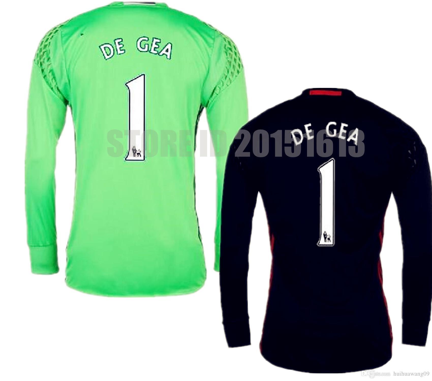 27071e69249 ... store manchester united soccer men full thailand long sleeve 1 de gea  goalkeeper jersey 68c3d a8341