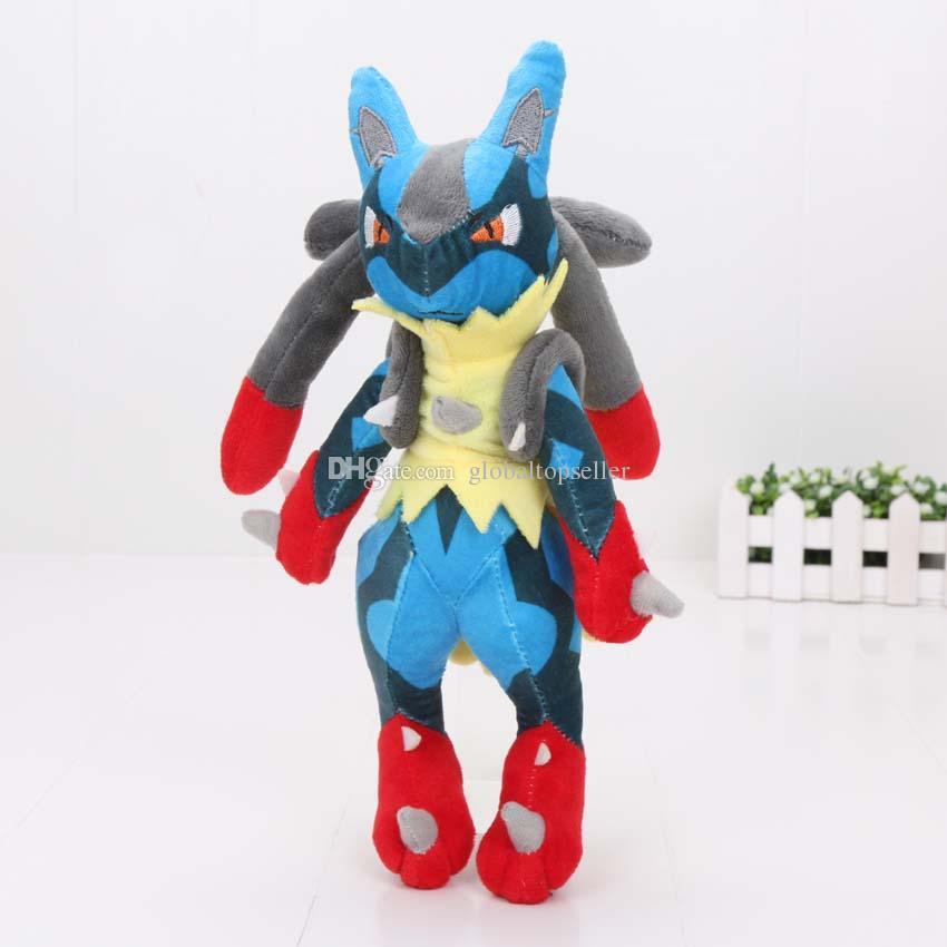 28cm Game toy Mega Lucario XY Stuffed Plush Toy Soft Doll For Children EMS Free