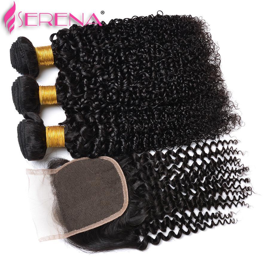 9a 브라질 버진 헤어 많은 인도 곱슬 곱슬 인간의 머리카락 위브 3 묶음 레이스 클로저 저렴한 헤어 피스 30 인치 짜다 위장