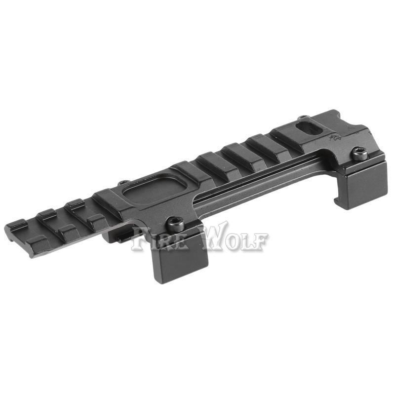 FIRE WOLF Hunting Gear Aluminium Airsoft MP5 G3 20mm Scope Mount Rail Picatinny Base MP5 Dovetail guide rail bracket