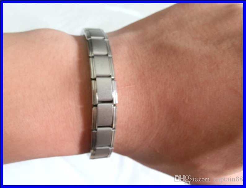 Venda quente nova chegada de energia pulseira de titânio, nano energia magnética germânio pulseira de titânio alívio da dor poderosa!