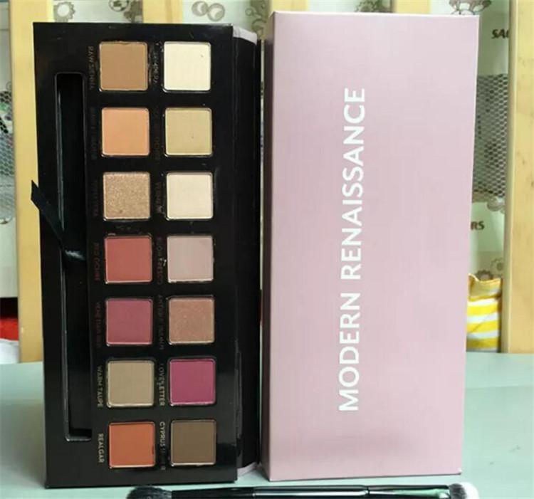 ombra moderna Eye Palette limitata gamma di colori dell'ombra occhio con la spazzola ombretto rosa tavolozza A08