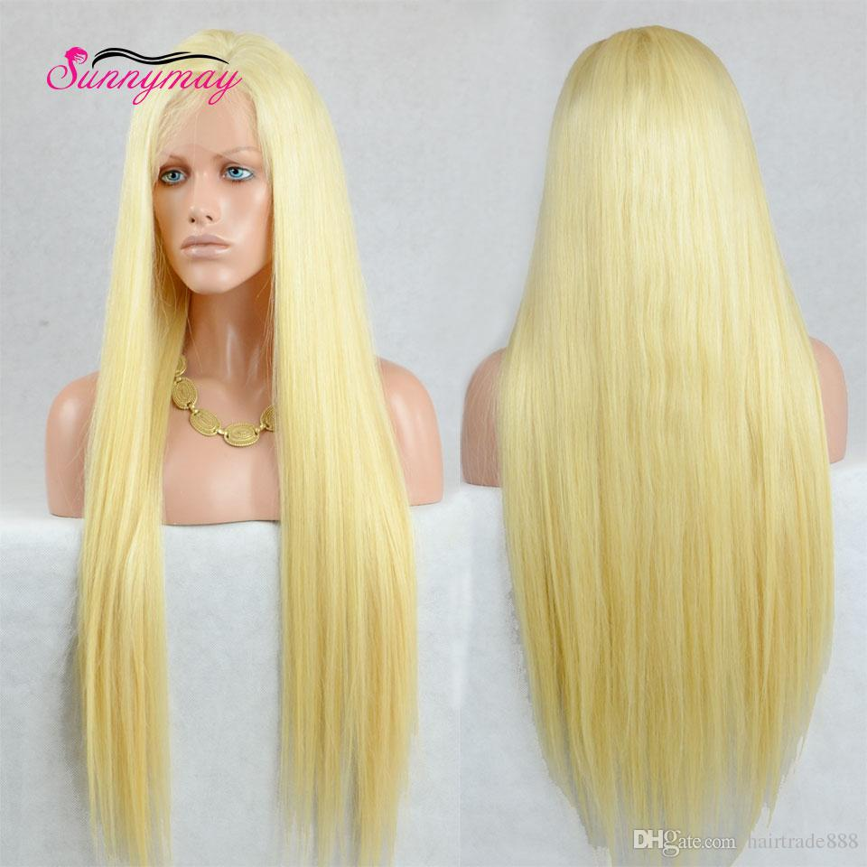 613 Blonde Wigs Natural Looking Long Blonde Lace Front Wigs Straight ... 7693d940ca70