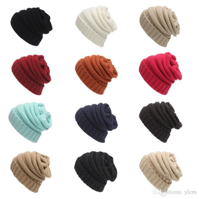 Compre Unisex Beanies Elegante Sombreros De Punto Sombreros Cap ...