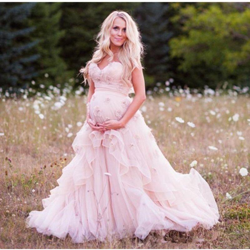 Свадебное платье с открытой спиной и линией для беременных из органзы для душа и ребенка, выполненное на заказ, в форме сердца, милые свадебные платья, чистый розовый