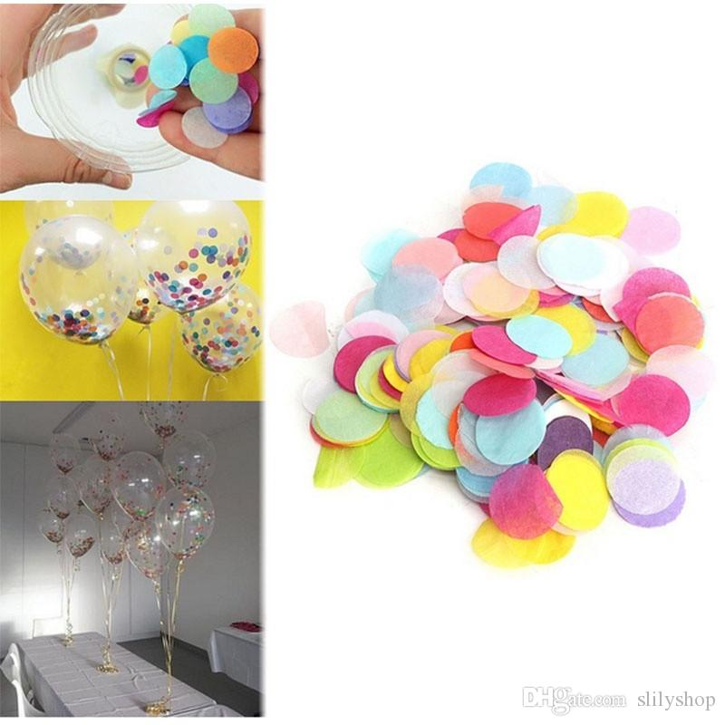=30g/bag 2.5cm Gold Circle Shape Paper Confetti kids party supply Confetti for Wedding Party Table Decorations