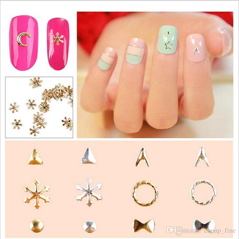 Bag Manicure Ornaments Metal Gold Silver Moon Nail Patch 3d Nail Art ...