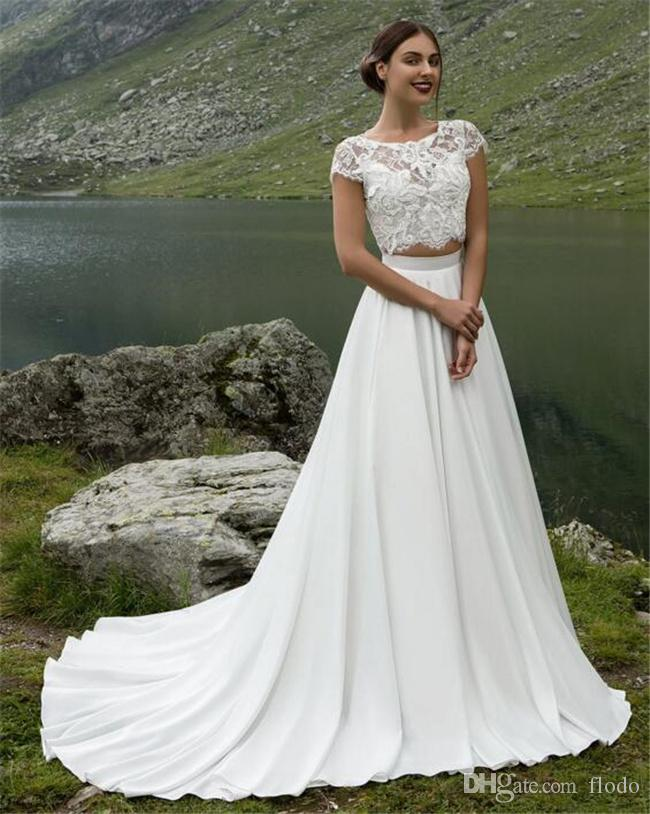 two piece wedding dresses | Wedding