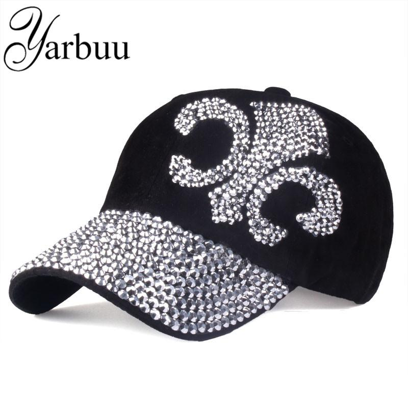 8c2901f3c2d New Fashion Hat Caps Sunshading Men And Women  S Baseball Cap Rhinestone Hat  Denim And Cotton Snapback Cap Hip Hop Hat Stores Custom Trucker Hats From  ...