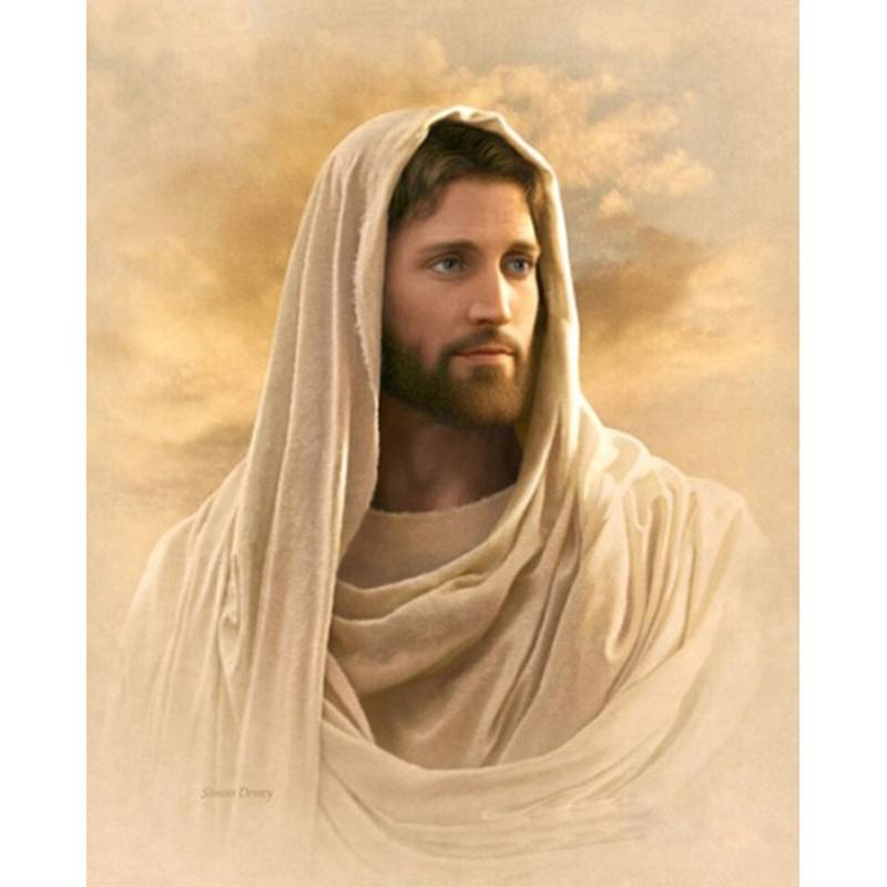 2018 Jesus Diy Diamond Painting Embroidery 5d Handmade ... Jesus Christ Lds Simon Dewey