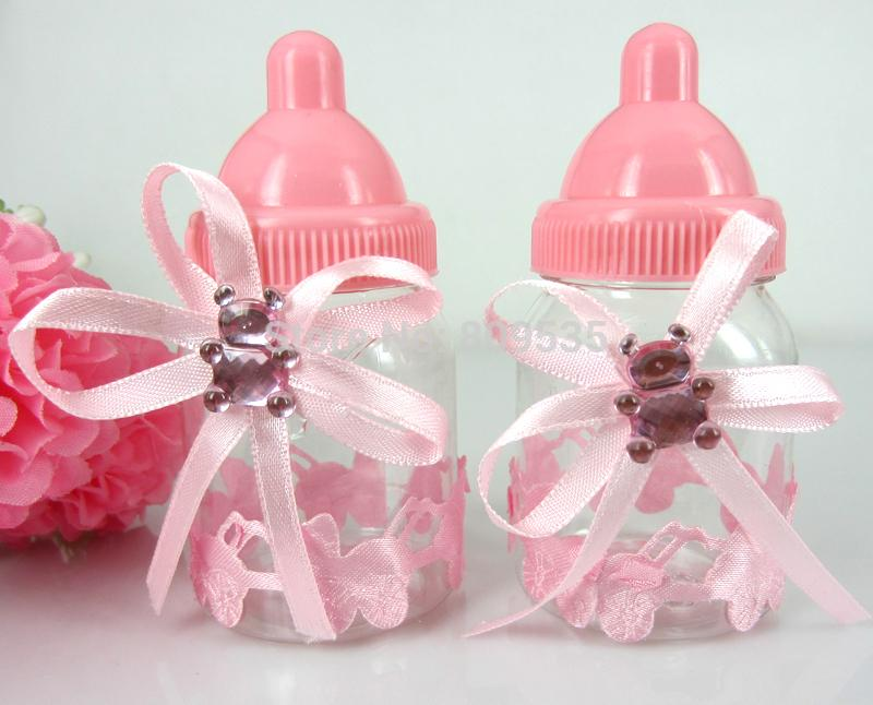 Wholesale Pink Girl Baby Shower Favors Bottle Baptism For Wedding Candy Box  Party Marriage Gifts Bottle Wrapped Christmas Gifts Wrapped Christmas  Presents ...