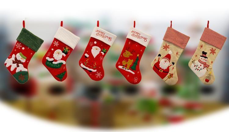 snow christmas stockings children gift bagsjpg - Christmas Stockings Wholesale