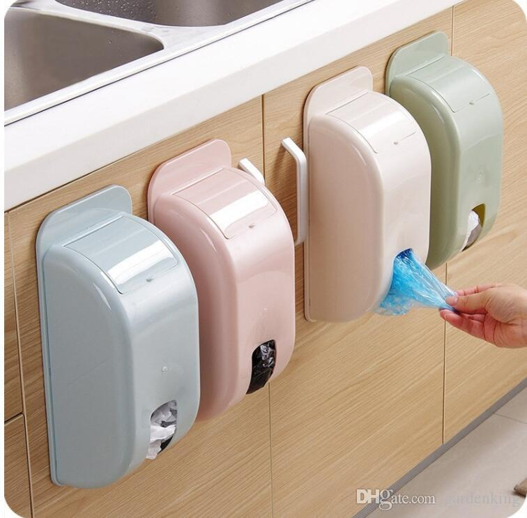 Wall Mount Container Holder Garbage Bag Dispenser Recycle Bag Storage Box  Plastic Kitchen Grocery Bins Organizer Housekeeping Storage Box Plastic Box  ...
