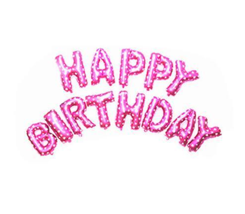 Oro Letras Del Alfabeto Globos Feliz Cumpleaños Fiesta Decoración Aluminio Papel de Membrana Ballo Nueva Decoración para el hogar envío libre de DHL