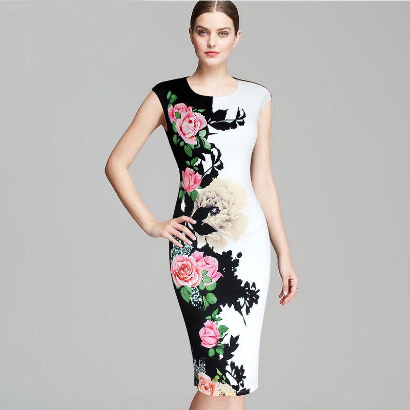 Acquista Vestiti Da Donna Elegante Floreale Vintage Floreale Stampato  Contrasto Patchwork Dimagrendo Vestidos Casual Partito Guain Bodycon Vestito  227 A ... 5d5cec4c0c0