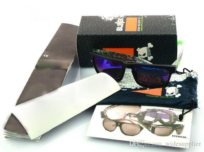Forfaits de vente au détail de lunettes de soleil avec boîte + sac / pochette + chiffon
