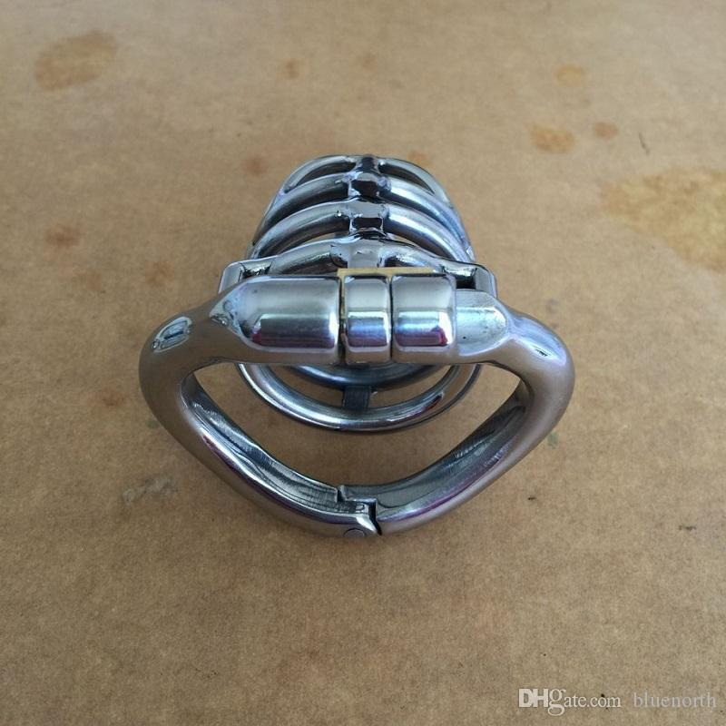 Best Unique design Open Mouth Snap Ring Male chastity device with flexible curved ring Spike Ring Cock Cage BDSM Sex Toys for Men