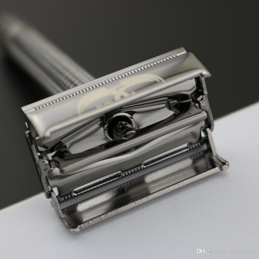 WEISHI Double Edge Classique Rasoir de Sécurité, Alliage de Cuivre Perle noir 9306-C Top qualité Emballage simple / NEUF