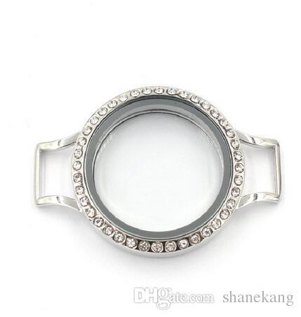 Liga de vidro flutuante medalhão de vidro pulseiras envoltório de prata rosa pulseira de couro vermelho fit memória medalhão charme para o presente de Natal