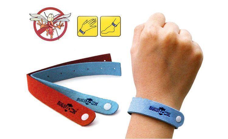 Repelente de mosquitos Pulsera Anti-mosquito Anillo repelente de insectos de mano Colorido Bugs de protección personal Lock New Simple Purple Blue