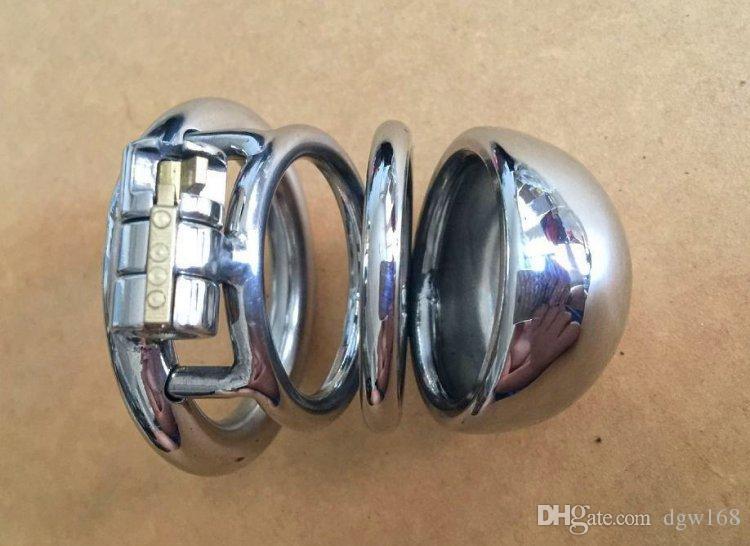 Yeni Paslanmaz Çelik Erkek Iffet Cihazı Çıkarılabilir Üretral Sondaj Kateter Ile Küçük Cock Cage SM Seks Oyuncakları Iffet Kemer