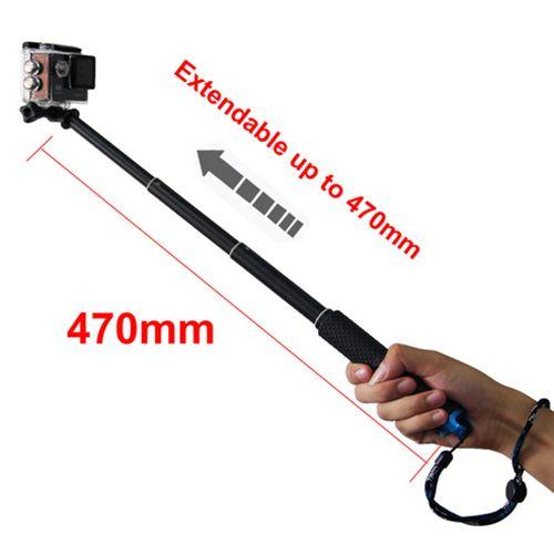 Extendable Handheld Stick Telescopic Monopod Tripod for Gopro Hero6 Black Hero 5 4 SJ4000 SJ5000 F60 EKEN H3 H8 H9
