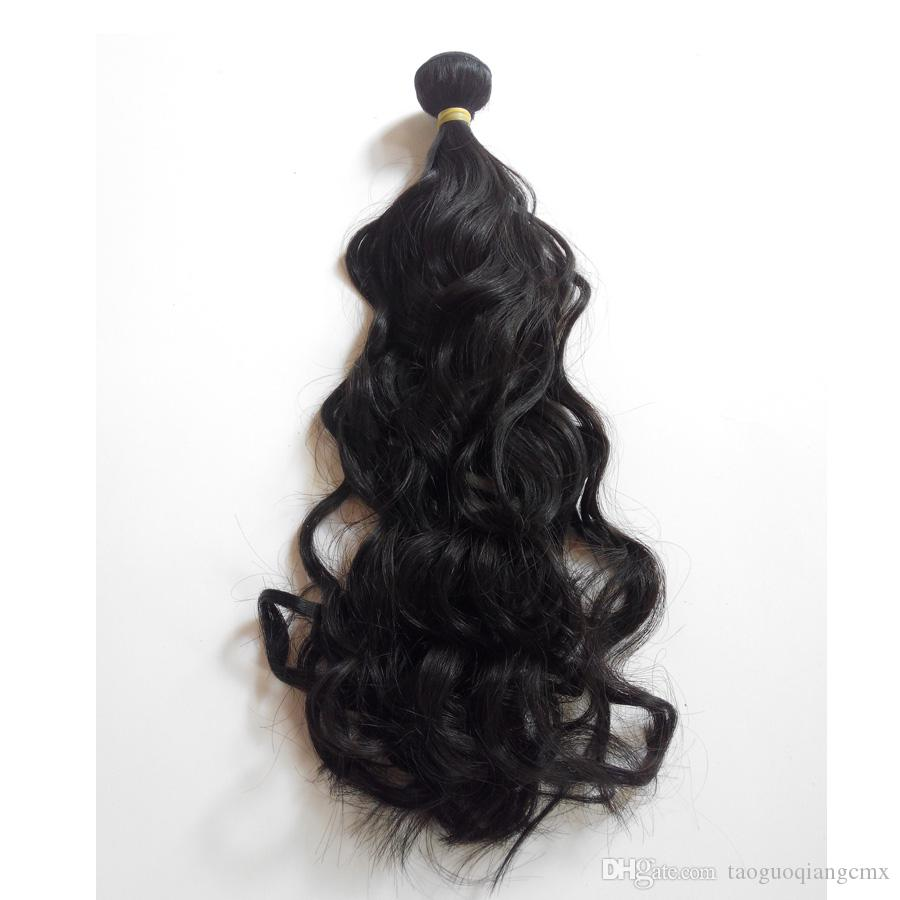 Peruvian Natural Wave Virgin Human Hair Weave 3 Bundles 8-30inch Factory Wholesale price Indian remy Hair weft extensions dhgate