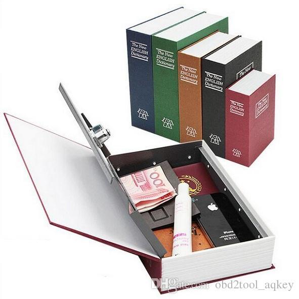 180x115x55 ملليمتر تصميم جديد التخزين خزنة قاموس سر كتاب أصبع البنك المال المخفية سر الأمن خزانة النقدية المجوهرات مع مفتاح القفل