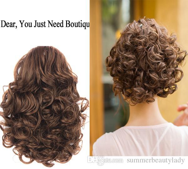 New Women Big Curly Chignon Clip In Elastic Band Fake Hair Bun Updo