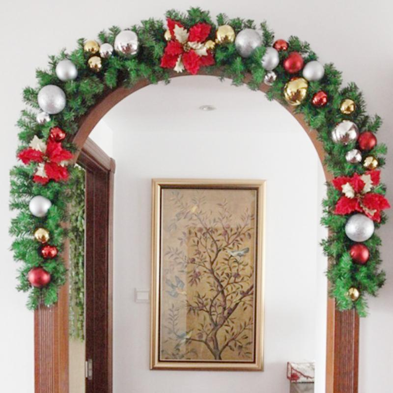 Good Quality Luxury Thick Mantel Fireplace Christmas Garland Pine Tree Indoor Christmas Decoration