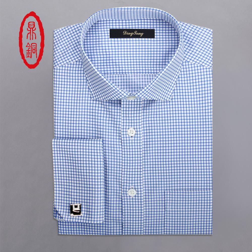 great discount latest trends of 2019 selected material Wholesale- Mens Plaid Long Sleeve Men Dress Shirts,Bespoke Dress Shirt Slim  Checkered Shirt Chemise Homme,Custom Made Slim Fit Men Shirt