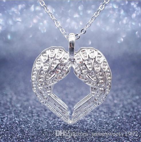 2018 wings of angel heart pendant chokers necklaces charms jewelry 2018 wings of angel heart pendant chokers necklaces charms jewelry for weddings sale women girls cheap match prom dresses without chain necklace from aloadofball Choice Image