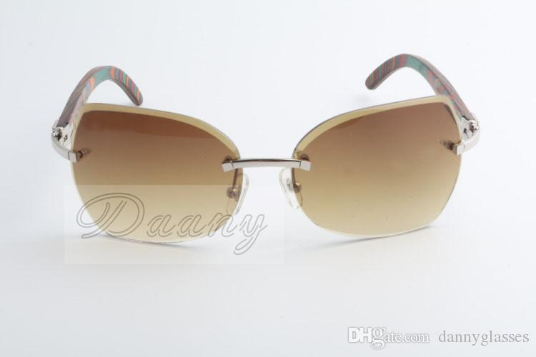 High quality new natural peacock wood, stylish, beveled lenses, sunglasses, 8300818 sizes: 60-18-135 mm