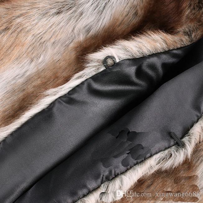 Winter Women Faux Fur Faux Fur Vest Gilet V-Neck Sleeveless Short Cardigan Jacket Coat Outerwear Coats S-XXL