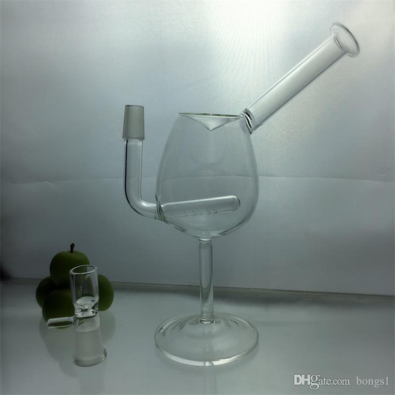 Brand Cup style Clear Glass Bong Concentrate Oil rigs Dabber Bubber Water Pipe With glass adapter