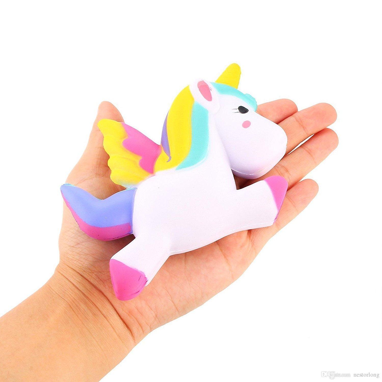 Squishy Unicorn Head : Jumbo Squishy Cute Wings Unicorn Kawaii Cream Scented Very Slow Rising Decompression Squeeze ...
