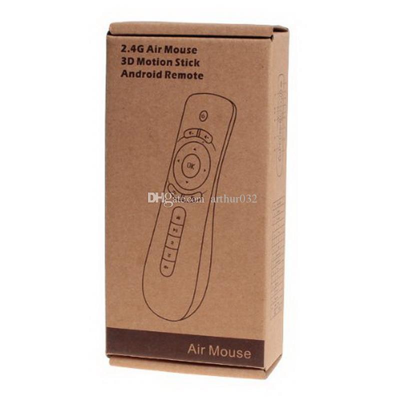 Fly Air Mouse T2 Control remoto 2.4 GHz Inalámbrico 3D Giroscopio Motion Stick Juego Teclado Para 3D Sense Game Android TV Box Google TV Player