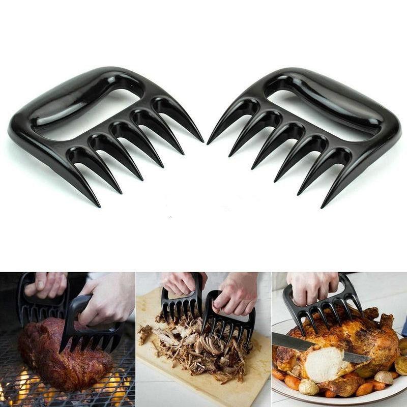 Grizzly Bear Paws Claws Fleisch Handler Gabelzangen Pull Shred Schweinefleisch BBQ Barbecue Tool Hochwertige Lebensmittel-Grade BBQ-Tools