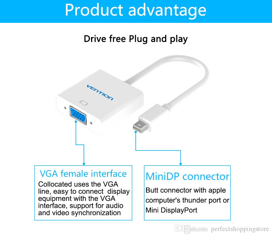 Vention Mini Displayport To Hdmi Vga Cable Adapter For Apple Macbook Wiring Diagram Air Pro Imac Mac