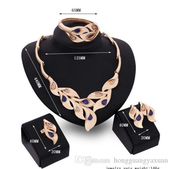 Fashion hot style flowers golden necklace restoring ancient ways dress accessories jewelry set dinner activities