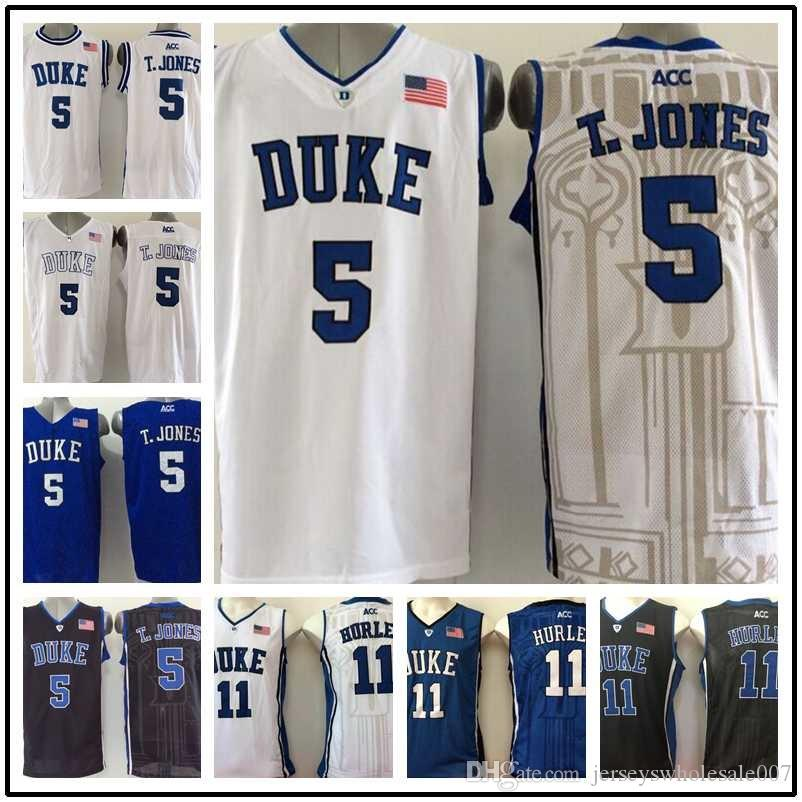 e81b9ba6ade ... purchase 5 tyus jones 11 bobby hurley duke blue devils college  basketball jerseys black blue white