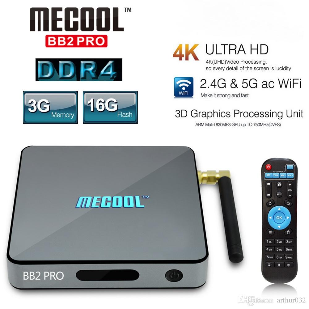 mecool bb2 pro tv box android 7 1 3gb ddr4 16gb