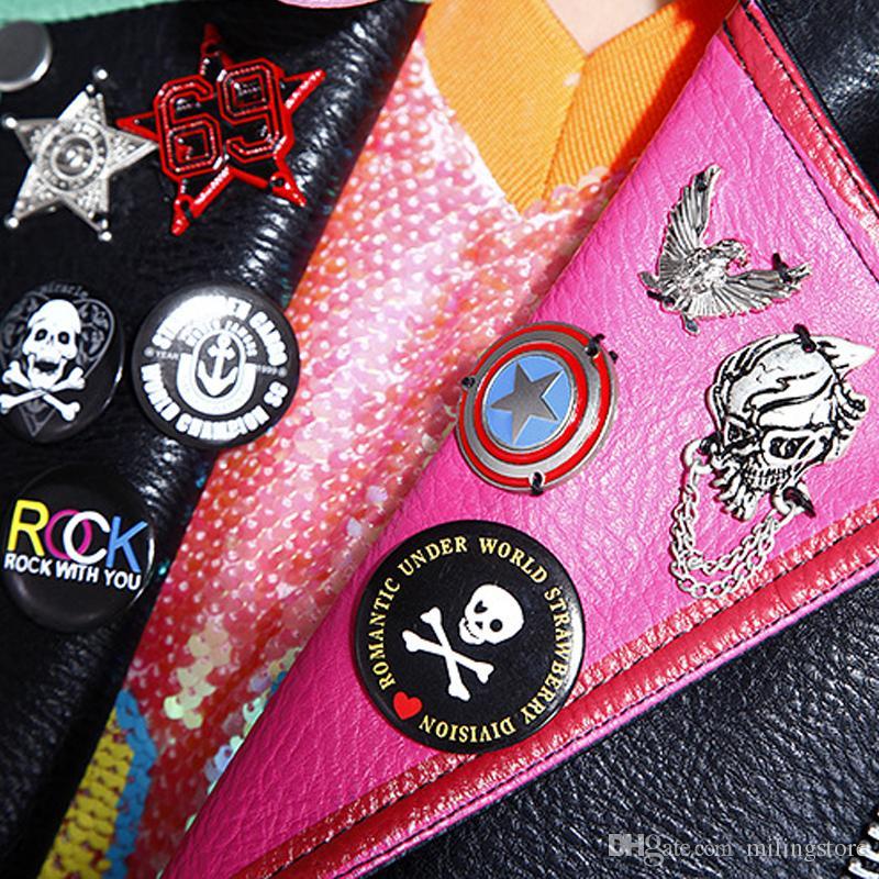 Autunno Inverno Donna Top Fashion Donna Graffiti PU Faux Leather rivetto giacca moto Cappotto Capispalla Donna